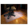 Chair Mat for Hard Floors, Lip, 45w x 53l, Clear - ESR132123
