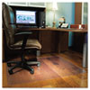 Chair Mat for Hard Floors, Rectangle, 46w x 60l, Clear - ESR132321