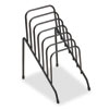 Wire Step File Junior, 6 Sections, 4 3/8w x 6 1/2d x 7 3/4h, Black