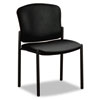 Pagoda 4070 Series Stacking Chairs, Black Vinyl, 2/Carton - HON4073EE11T