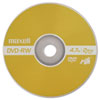 DVD-RW Discs, 4.7 GB, 2x, w/Jewel Cases, Gold, 3/Pack - MAX635123