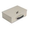 Heavy-Duty Steel Fire-Retardant Security Cash Box, Key Lock, Sand - MMF221614003