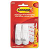 Scotch Command Removable Utility Hooks, 3-lb Capacity, Plastic, White, Set of 2 - MMM17001