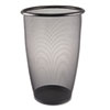 Onyx Round Mesh Wastebasket, Steel Mesh, 9 gal, Black - STEAM100