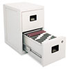 Fire-Safe 2-Drwr Insulated Vertical File, 17-1/4w x23-1/4d x 28h, Light Gray - SEN6000