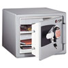 Electronic Personal Safe, .8 ft3, 16-11/16w x 19-5/16d x 13-23/32h, Gray - SENOS0810