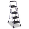 Max Work Steel Platform Step Stool, 22w x 3d x 61h, Black - CSC11880PBLW1