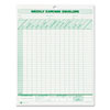 Weekly Expense Envelope, 8-1/2 x 11, 20 Forms