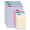 Prism Plus Colored Junior Legal Pads, 5 x 8, Pastels, 6 50-Sheet Pads/Pack - TOP63016