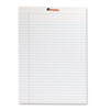 Perforated Edge Writing Pad, Wide/Margin Rule, Letter, White, 50-Sheet, Dozen - SPR-AKM09520