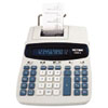 1220-4 Two-Color Tax Key Printing Calculator, 12-Digit Fluorescent, Black/Red - VCT12204