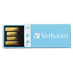 VER97550 Clip-It USB Flash Drive, 4G, Blue VER 97550