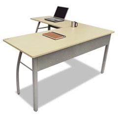 LITTR737OAT Trento Line L-Shaped Desk, 59w x 59d x 29-1/2h, Oatmeal LIT TR737OAT