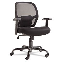 ALEMX4517 Merix450 Series Mesh Big/Tall Mid-Back Swivel/Tilt Chair, Black ALE MX4517