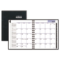 "AAGG400H00 Recycled Monthly Planner, Black, 6 7/8"" x 8 3/4"", 2015 AAG G400H00"