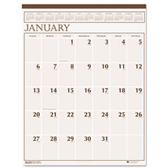 HOD380 Large Print Monthly Wall Calendar in Punched Leatherette Binding, 20 x 26, 2013 HOD 380