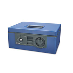 "CUI88650 12"" Wide Security Box w/Dual Lock, Removable Cash/Coin Tray, Steel, Blue CUI 88650"