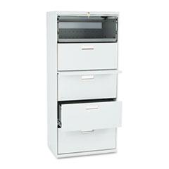 HON675LQ 600 Series Five-Drawer Lateral File, 30w x19-1/4d, Light Gray HON 675LQ