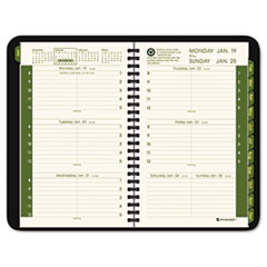 "AAG70100G05 Recycled Weekly/Monthly Appointment Book, Black, 4 7/8"" x 8"", 2015 AAG 70100G05"