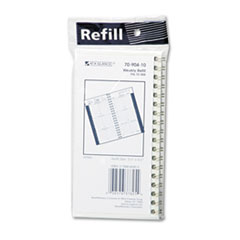 AAG7090410 Recycled Weekly Appointment Book Refill, Hourly Ruled, 3-1/4 x 6-1/4, 2015 AAG 7090410