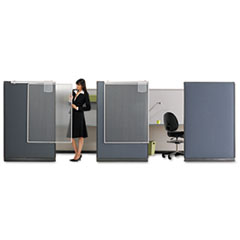 QRTWPS1000 Workstation Privacy Screen, 36w x 48h, Translucent Clear QRT WPS1000