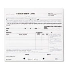 RED44301 Bill of Lading Short Form, 8 1/2 x 7, Three-Part Carbonless, 250 Forms RED 44301