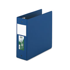 "SAM14392 Clean Touch Antimicrobial Locking Round Ring Binder, 11 x 8-1/2, 4"" Cap, DK Blue SAM 14392"
