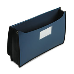 SMD71513 Premium 5 1/4 Inch Accordion Expansion Wallets, Poly, Legal, Navy Blue SMD 71513
