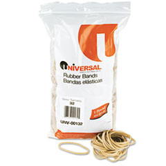 UNV00132 Rubber Bands, Size 32, 3 x 1/8, 820 Bands/1lb Pack UNV 00132