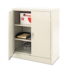 Quick-Assemble Cabinet, 36w x 18d x 42h, Light Gray