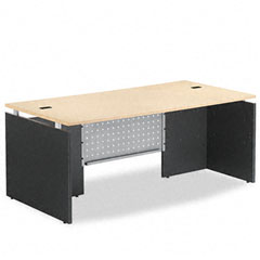Seville Series Straight Front Desk Shell, 72w x 36d x 29h, Maple/Charcoal