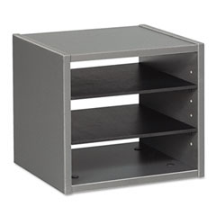 Seville Series Under-Counter File Organizer, 13w x 11d x 11h, Charcoal