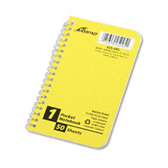 Wirebound Pocket Memo Book, Narrow Rule, 5 x 3, White, 50 Sheets/Pad