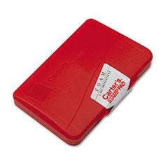 Foam Stamp Pad, 4 1/4 x 2 3/4, Red