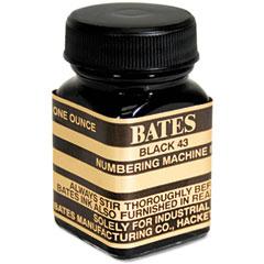 Refill Ink for Numbering Machines, 1 oz Bottle, Black