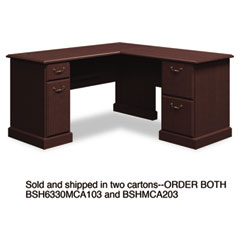 Syndicate L-Desk, 60w x 60d x 30h, Mocha Cherry, Carton 2