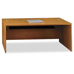 Quantum Series Desk Shell, 71-3/8w x 29-1/4d x 30h, Modern Cherry