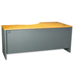 Series C Left Corner Desk Module, 71w x 35-1/2d, Natural Cherry/Graphite Gray