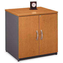Series C 2 Door Cabinet, 29-1/2w x 23-3/8d x 29-7/8h, Natural Cherry/Gray