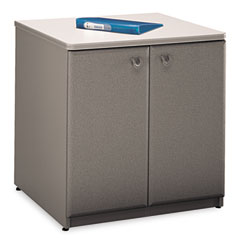 2-Door Storage Cabinet, 29-1/2w x 23-3/8d x 29-7/8h, Dove Gray/Taupe