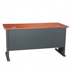 Series A Workstation Desk, 60w x 26-7/8d x 29-7/8h, Hansen Cherry/Galaxy