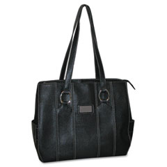 Kara Laptop Tote, Faux Leather, 15 3/4