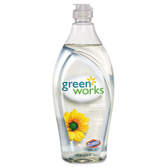 Green Works Natural Dishwashing Liquid Free & Clear, 22 oz. Bottle
