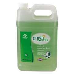 Green Works Pot & Pan Detergent, Natural Scent, 1 gal Bottle
