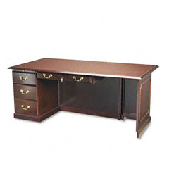 Governors Series Executive Right Single Pedestal Desk, 72 x 36 x 30, Mahogany
