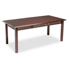 Governors Series Table Desk, 72w x 36d x 30h, Mahogany