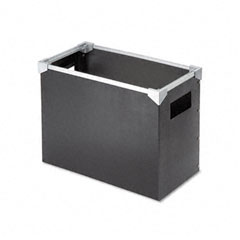 Poly Desktop Storage Box, Letter Size, Black