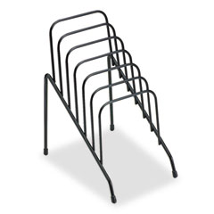 Wire Step File Junior, Six Sections, 4 3/8 x 6 1/2 x 7 3/4, Black