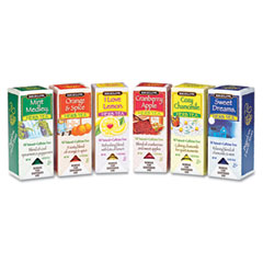 Assorted Tea Packs, Six Flavors, 28 Tea Bags/Flavor, 168/Carton