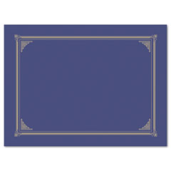 Certificate/Document Cover, 12-1/2 x 9-3/4, Metallic Blue, 6/Pack